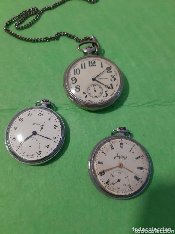 Lote Relojes 3 BolsilloMarca De Molnija FJTl1Kc