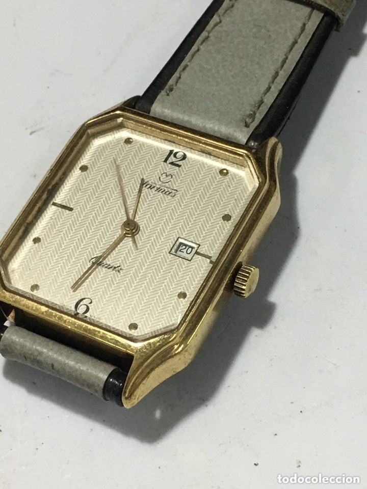 Vintage: Reloj Tormas Quartz vintage extraplano maquinaria Swiss Harley 3675 - Foto 2 - 175559020
