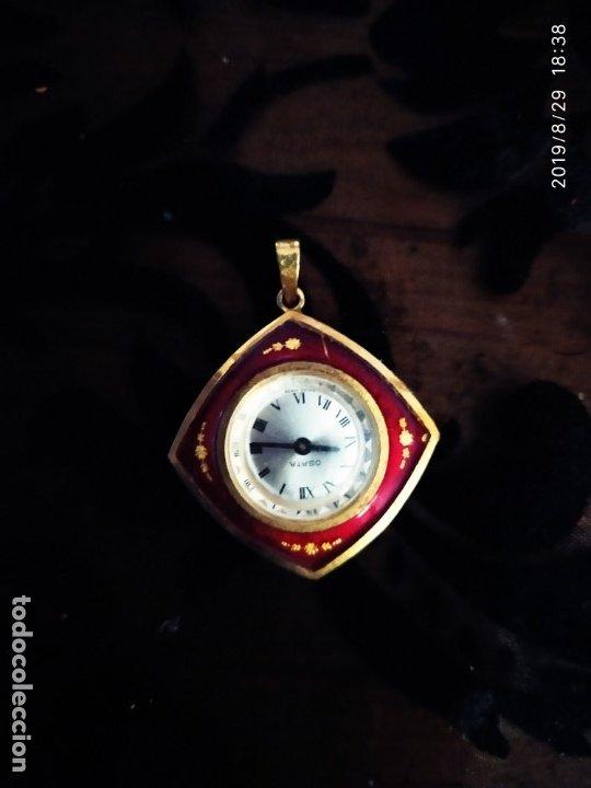 RELOJ COLGANTE ANTIGUO VINTAGE SEÑORA OSATA ÚNICO (Relojes - Relojes Vintage )