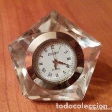 Vintage: PRECIOSO RELOJ DE CRISTAL TALLADO CAMRY. Lote 175765998