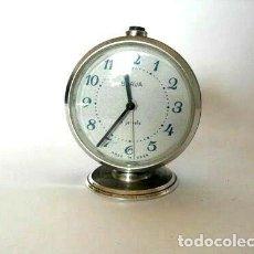 Vintage: RELOJ MECÁNICO SOVIÉTICO VINTAGE SLAVA, RELOJ DESPERTADOR. Lote 175790828
