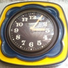 Vintage: ANTIGUO RELOJ DE PARED RADIANT ELECTRIC ALEMÁN CERÁMICA . Lote 175960019