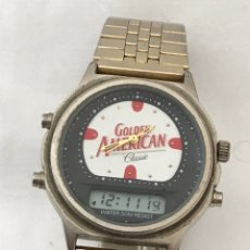 Vintage: RELOJ GOLDEN AMERICAN CLASSIC TOW TIMES. Lote 177783870