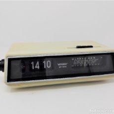 Vintage: RADIO RELOJ DESPERTADOR FLIP CLOCK VANICA SPACE AGE DESIGN. Lote 177798822