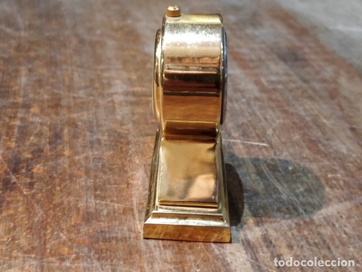 Vintage: Reloj en miniatura dorado, quartz - Japan movt - Shock proof - stainless steel - 5 x 5cm - Foto 3 - 177865052