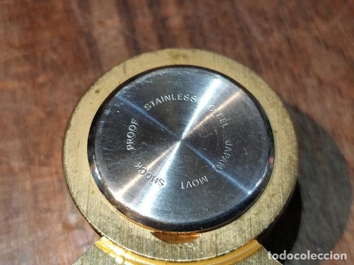 Vintage: Reloj en miniatura dorado, quartz - Japan movt - Shock proof - stainless steel - 5 x 5cm - Foto 5 - 177865052