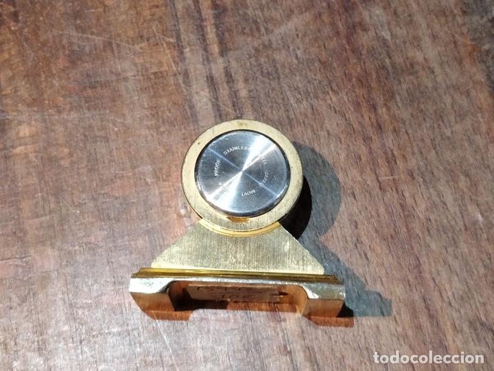 Vintage: Reloj en miniatura dorado, quartz - Japan movt - Shock proof - stainless steel - 5 x 5cm - Foto 6 - 177865052