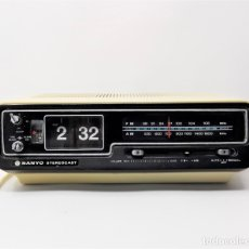 Vintage: RADIO RELOJ DESPERTADOR FLIP CLOCK SANYO STEREOCAST. Lote 178123602