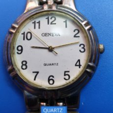 Vintage: RELOJ MARCA GENEVA --- QUARTZ --------- FUNCIONANDO. Lote 178715935
