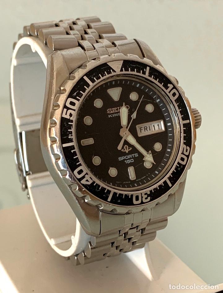 Vintage: Reloj seiko Kinetic Sport 150 mod 5M23-6B50 año 94 vintage - Foto 2 - 178946528