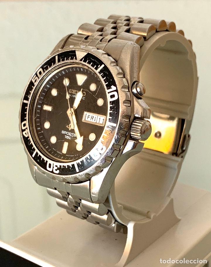 Vintage: Reloj seiko Kinetic Sport 150 mod 5M23-6B50 año 94 vintage - Foto 3 - 178946528