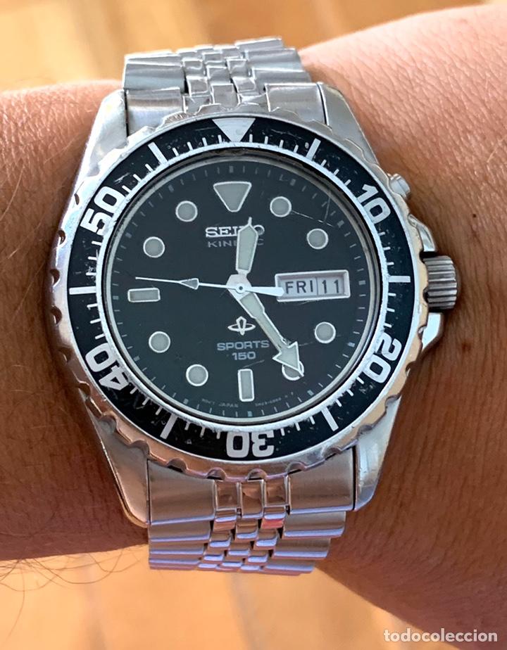 Vintage: Reloj seiko Kinetic Sport 150 mod 5M23-6B50 año 94 vintage - Foto 5 - 178946528