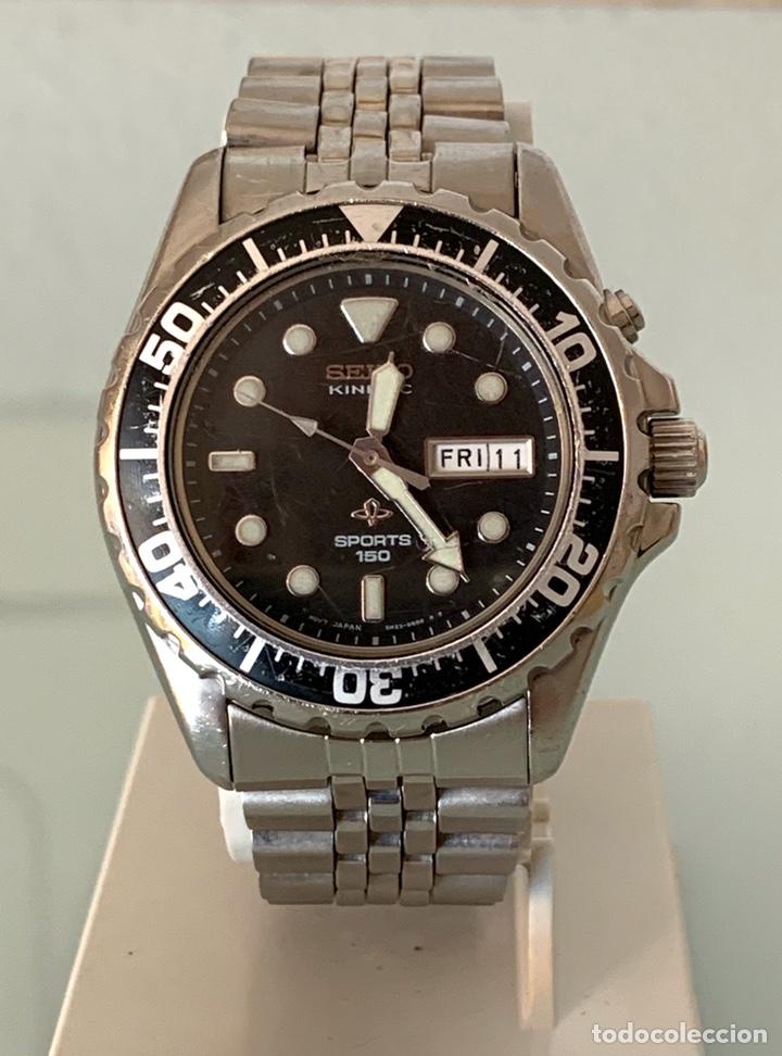 RELOJ SEIKO KINETIC SPORT 150 MOD 5M23-6B50 AÑO 94 VINTAGE (Relojes - Relojes Vintage )
