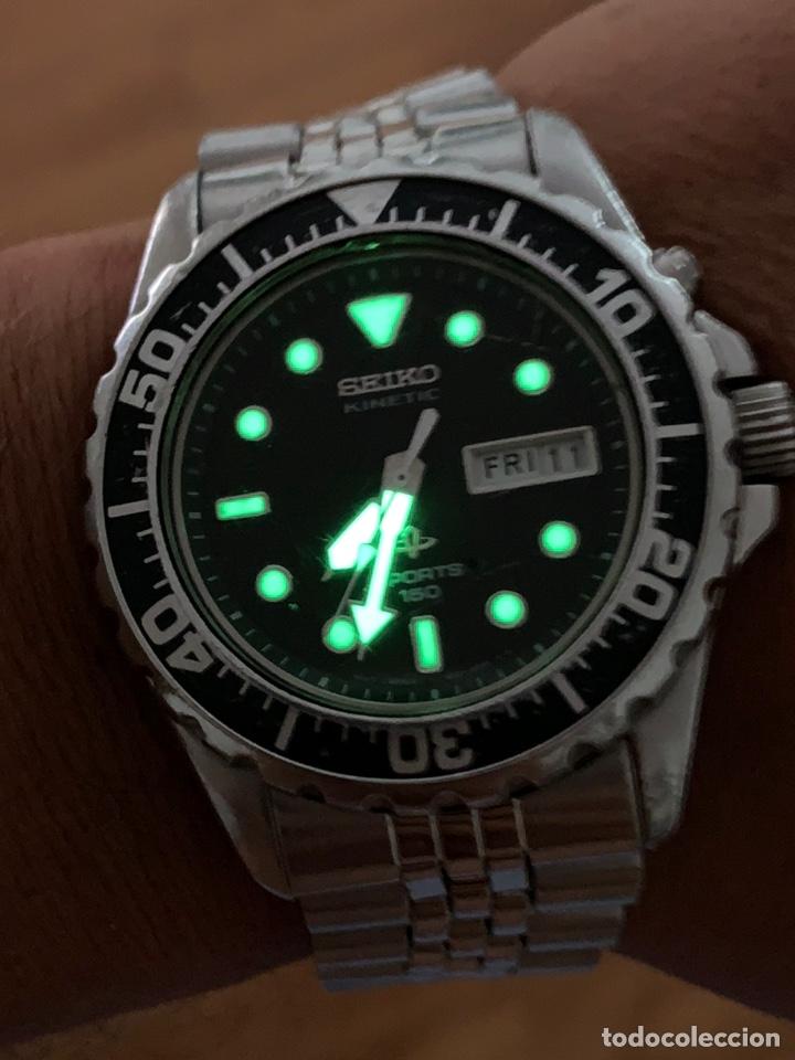Vintage: Reloj seiko Kinetic Sport 150 mod 5M23-6B50 año 94 vintage - Foto 4 - 178946528