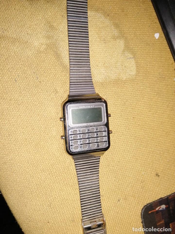 Vintage: reloj diplomat calcuradora sin comprobar - Foto 2 - 179520595