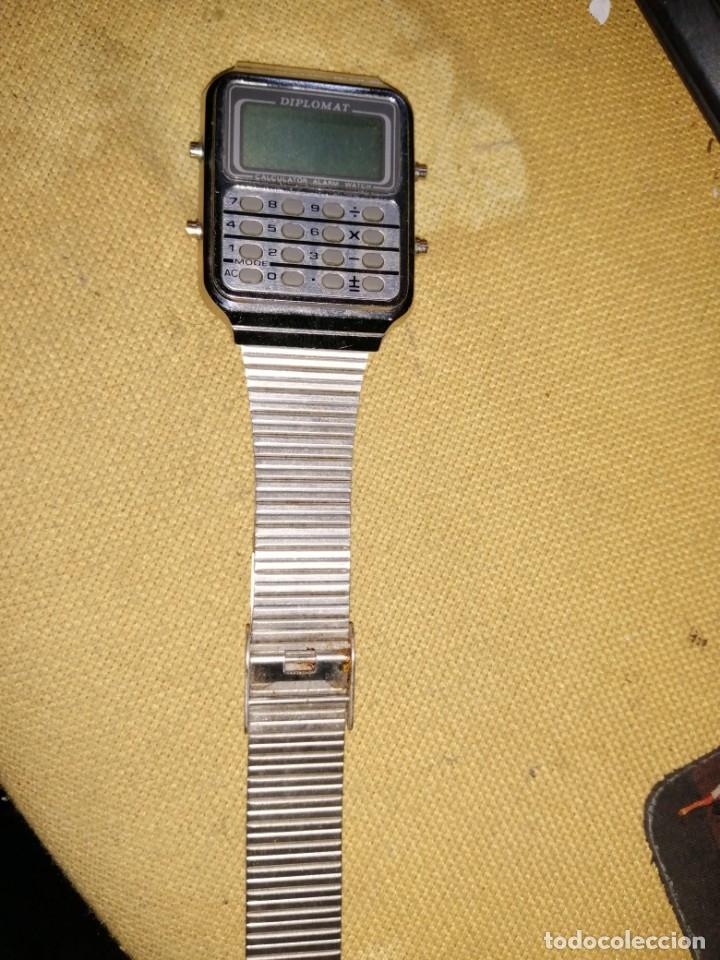 Vintage: reloj diplomat calcuradora sin comprobar - Foto 3 - 179520595