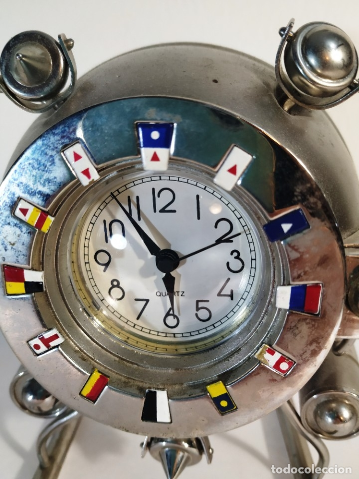 Vintage: Curioso reloj Batiscafo. Metal y esmalte. Funcionando a pilas. 12 x 14 x 10 cm. - Foto 2 - 180139790