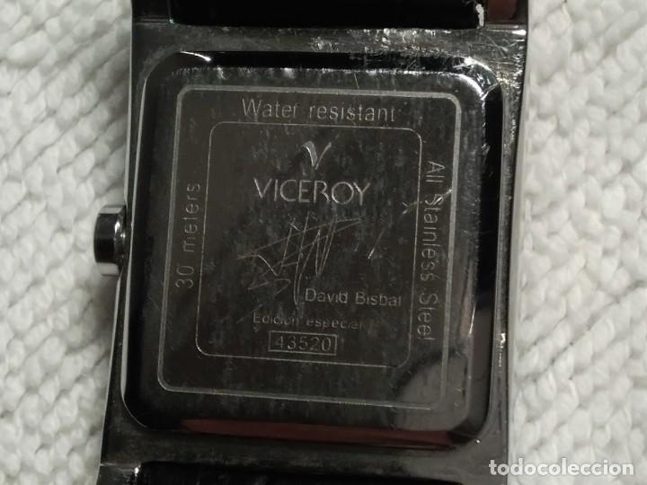 Vintage: Reloj ( VICEROY 43520.DAVID BISBAL. edición especial WATER RESISTANT 30 Meters) funcionando. - Foto 3 - 180438475