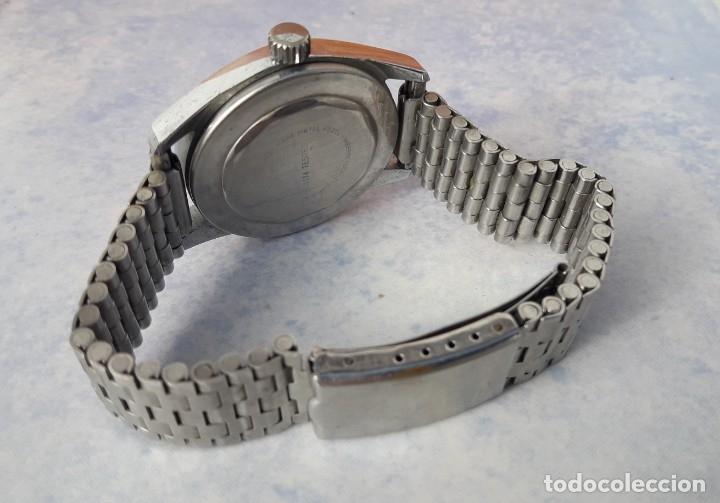 RELOJ SUIZO CASWATCH DE ESFERA NEGRA, BASE METAL BEZEL. (Relojes - Relojes Vintage )