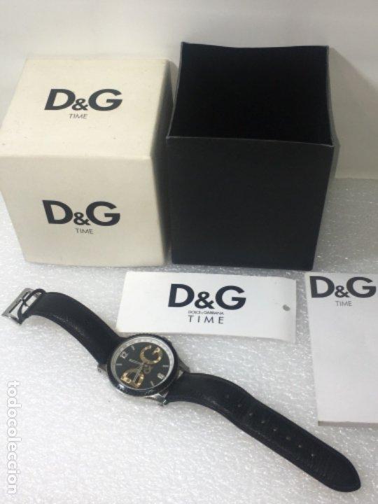 D&G DOLCE & GABBANA TIME WATCHES, RELOJ EN SU CAJA TODO ORIGINAL DE RELOJERÍA. (Relojes - Relojes Vintage )
