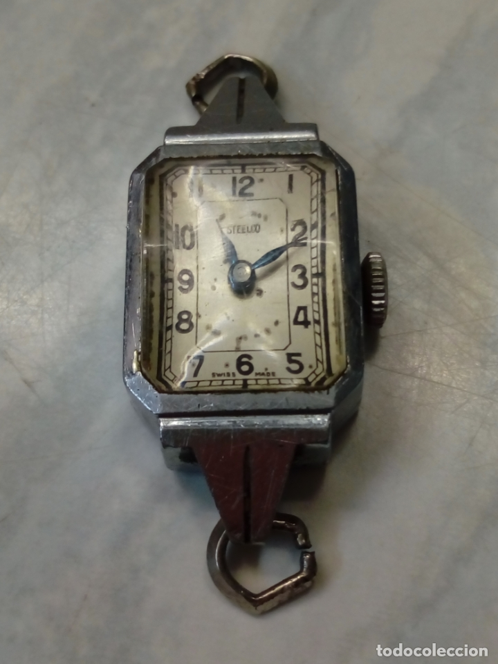 Vintage: antiguo reloj mujer - steelco chromium plated nickel - pulsera vel-fit 1/20 12k usa - Foto 4 - 182154923