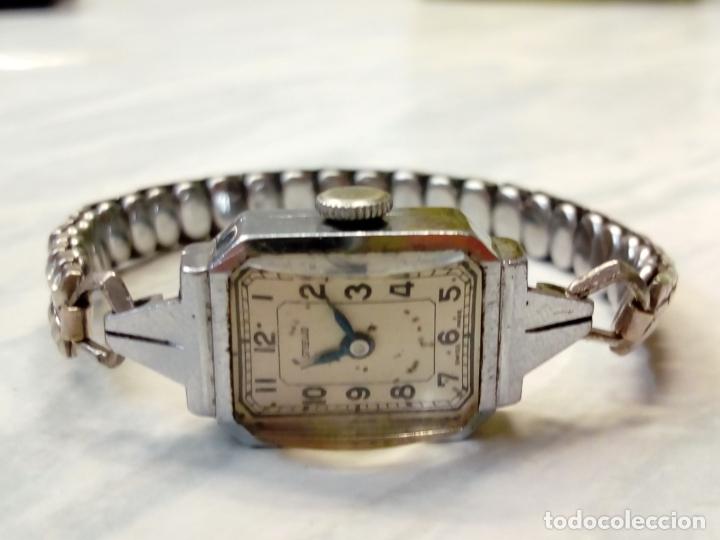 ANTIGUO RELOJ MUJER - STEELCO CHROMIUM PLATED NICKEL - PULSERA VEL-FIT 1/20 12K USA (Relojes - Relojes Vintage )