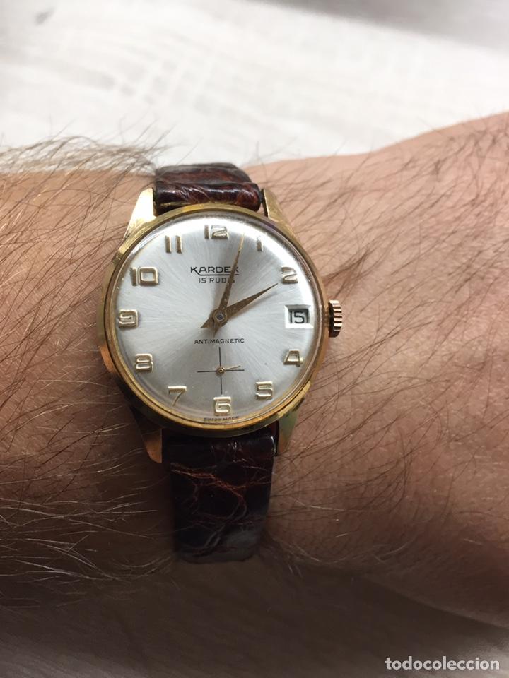 Vintage: Reloj Vintage carga manual Kardex 15 rubis - Foto 5 - 182643783