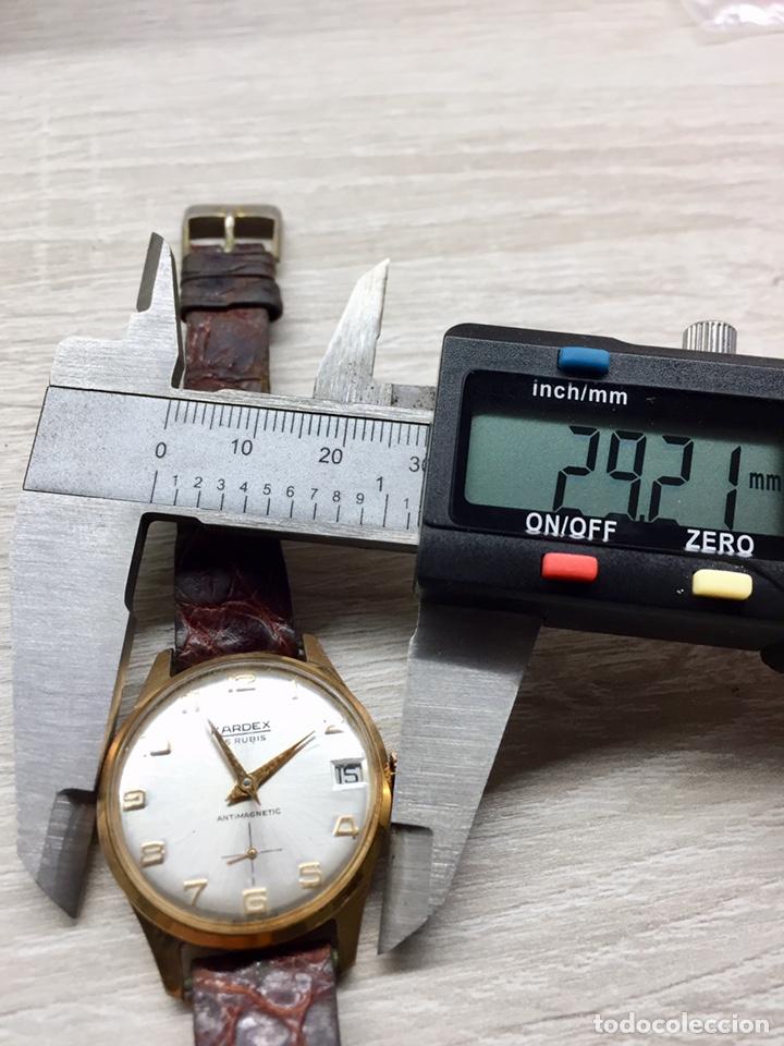 Vintage: Reloj Vintage carga manual Kardex 15 rubis - Foto 7 - 182643783