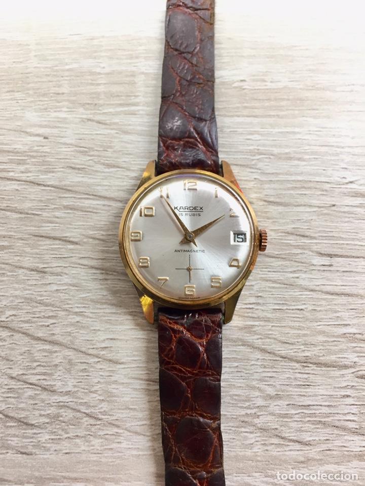 RELOJ VINTAGE CARGA MANUAL KARDEX 15 RUBIS (Relojes - Relojes Vintage )