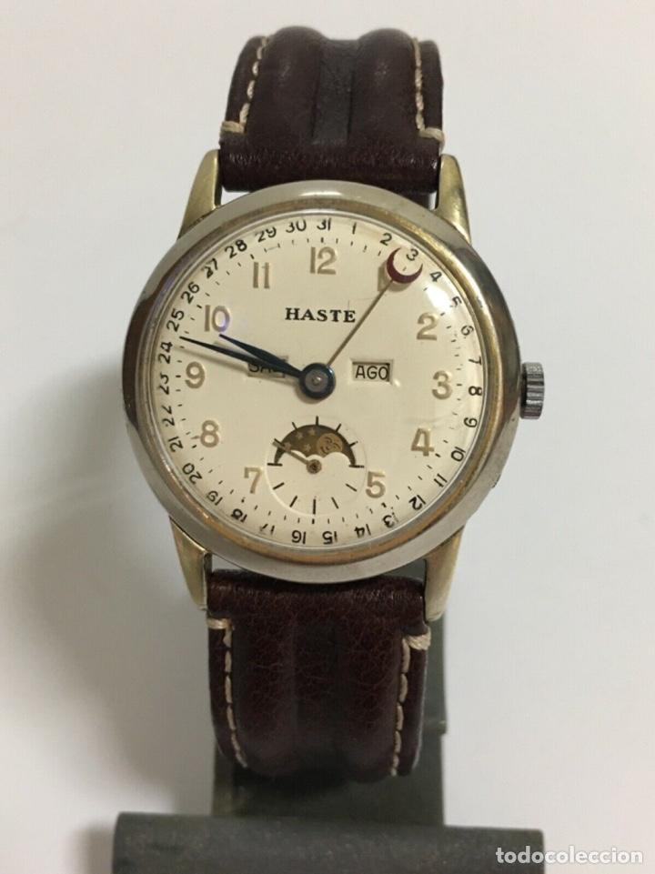 RELOJ BUREN HASTE C.382 TRIPLE DATE DE CUERDA DE LOS AÑOS 50 (Relojes - Relojes Vintage )