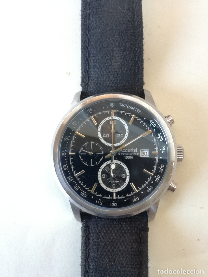 RELOJ CRONO PARA HOMBRE ACCURIST CHRONOGRAPH SKYMASTER MS758 ALARM ESFERA NEGRA (Relojes - Relojes Vintage )
