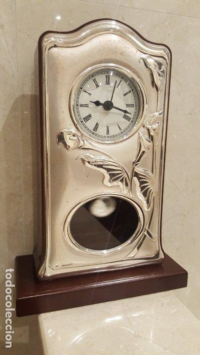 Vintage: RELOJ DE SOBREMESA DE PLATA - Foto 4 - 183196226