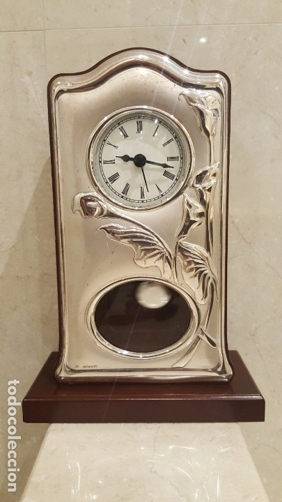 RELOJ DE SOBREMESA DE PLATA (Relojes - Relojes Vintage )