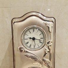 Vintage: RELOJ DE SOBREMESA DE PLATA. Lote 183196226