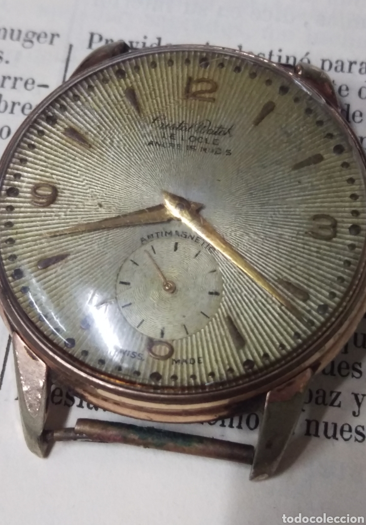 RELOJ CRITAL WATCH ORIGINAL A CUERDA SWISS MADE VER FOTOS - FUNCIONANDO (Relojes - Relojes Vintage )