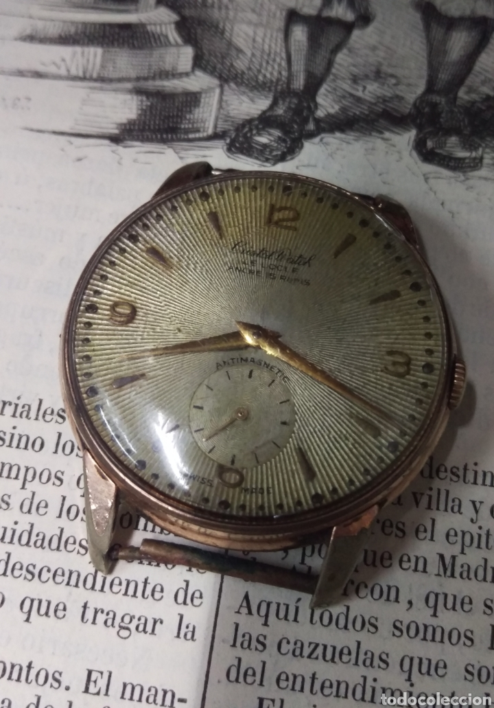 Vintage: RELOJ CRITAL WATCH ORIGINAL A CUERDA SWISS MADE VER FOTOS - FUNCIONANDO - Foto 7 - 183833166
