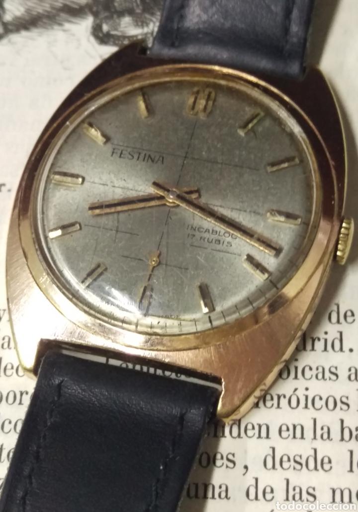 RELOJ FESTINA 17 RUBIS ORIGINAL A CUERDA SWISS MADE VER FOTOS (Relojes - Relojes Vintage )