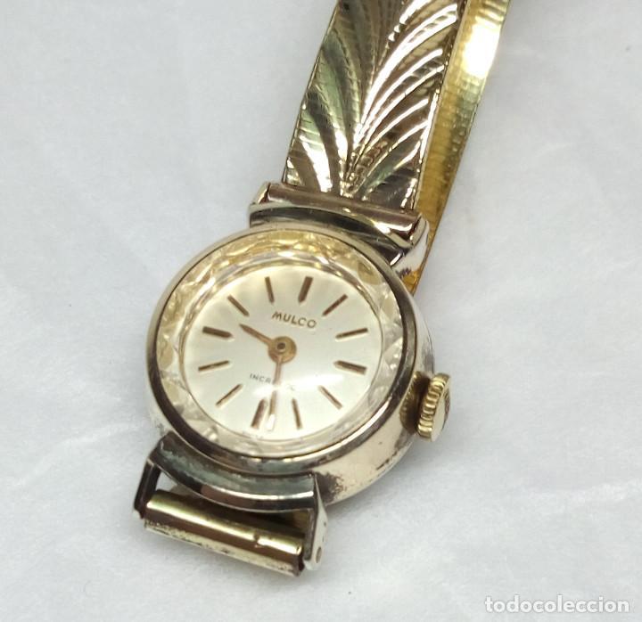 ANTIGUO RELOJ MULCO DE CARGA MANUAL, SWISS MADE, PARA SEÑORA - CAJA 16 MM - FUNCIONANDO (Relojes - Relojes Vintage )