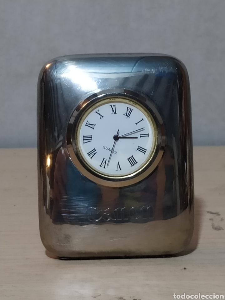 Vintage: Reloj sobremesa pisapapeles publicidad Canon - años 90 - Foto 2 - 190318488