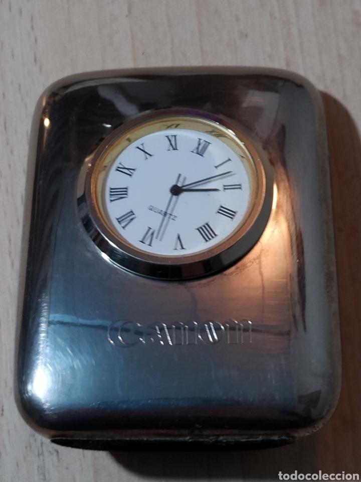 RELOJ SOBREMESA PISAPAPELES PUBLICIDAD CANON - AÑOS 90 (Relojes - Relojes Vintage )
