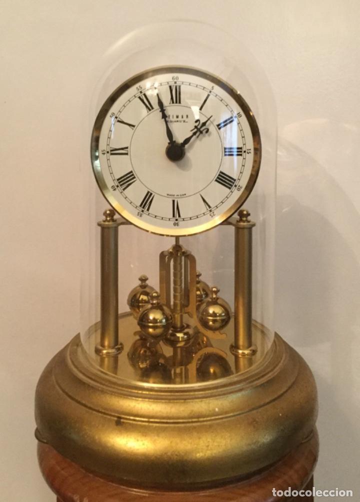 RELOJ VINTAGE DE SOBREMESA WEIMAR MADE IN GDR CON CÚPULA DE CRISTAL (Relojes - Relojes Vintage )