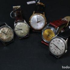 Vintage: LOTE 5 RELOJES SUIZOS VINTAGE MECÁNICOS. Lote 191149721