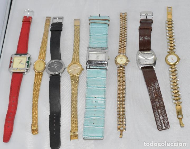LOTE 8 RELOJES VINTAGE, QUARTZ...PARA COLECCION O USO..DIFERENTES MARCAS Y ESTADOS..DEBEN FUNCIONAR (Relojes - Relojes Vintage )