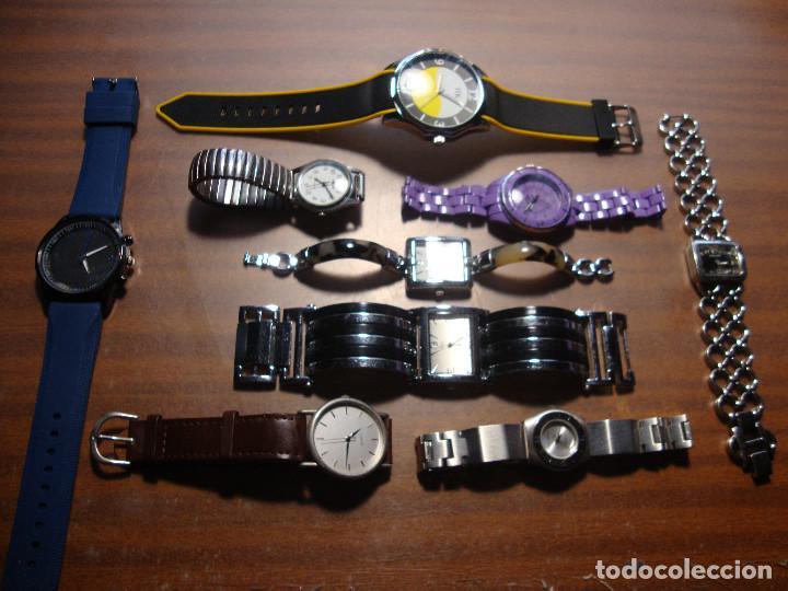 COLECCION DE 9 RELOJES DE PILA TODOS EN FUNCIONAMIENTO MENOS UNO QUE TIENE EL CRISTAL ROTO VER FOTOS (Relojes - Relojes Vintage )