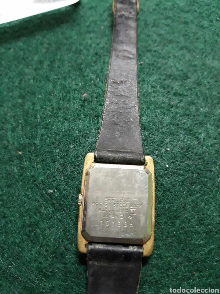 Vintage: Reloj de mujer seiko correa de piel - Foto 3 - 193885530