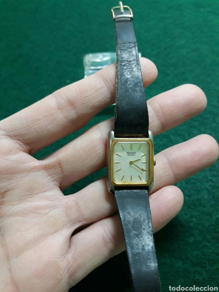 Vintage: Reloj de mujer seiko correa de piel - Foto 5 - 193885530