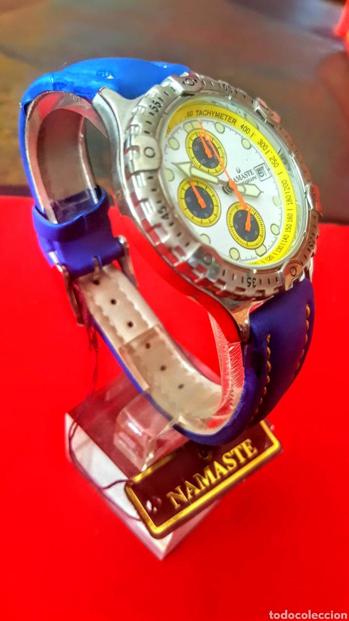 Vintage: Reloj NAMASTE CRONOGRAFO CALENDARIO NUEVO SIN ESTRENAR FUNCIONA PERFECTAMENTE DIÁMETRO 40MILIMETROS - Foto 2 - 194208655