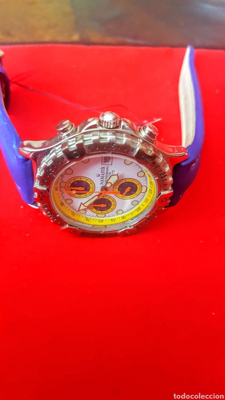 Vintage: Reloj NAMASTE CRONOGRAFO CALENDARIO NUEVO SIN ESTRENAR FUNCIONA PERFECTAMENTE DIÁMETRO 40MILIMETROS - Foto 5 - 194208655
