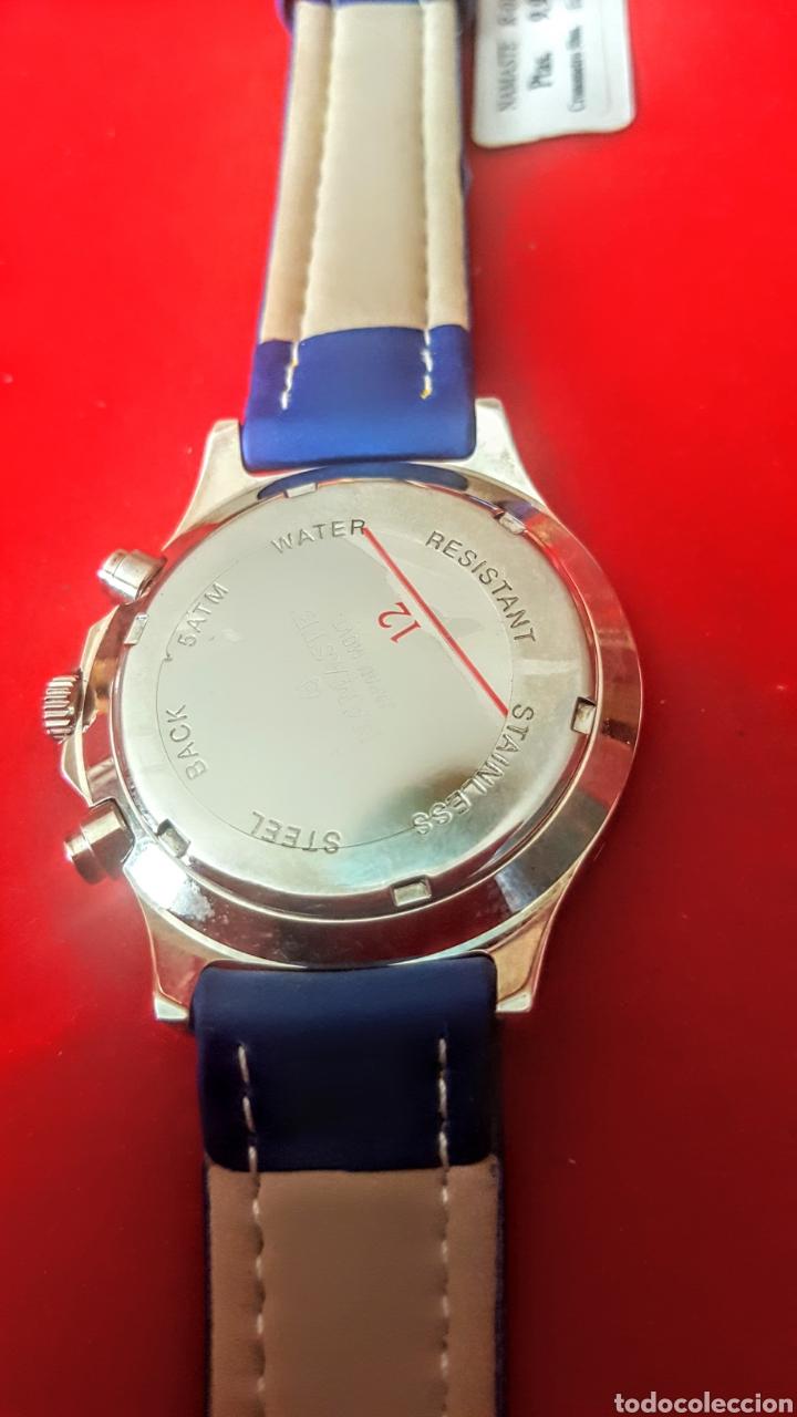 Vintage: Reloj NAMASTE CRONOGRAFO CALENDARIO NUEVO SIN ESTRENAR FUNCIONA PERFECTAMENTE DIÁMETRO 40MILIMETROS - Foto 6 - 194208655