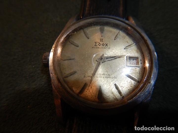 Vintage: Reloj Edox hidromatic - Foto 2 - 194226773